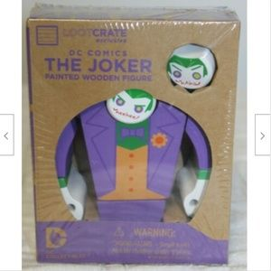 Loot Crate Wooden Joker Figurine DC Comics Painted